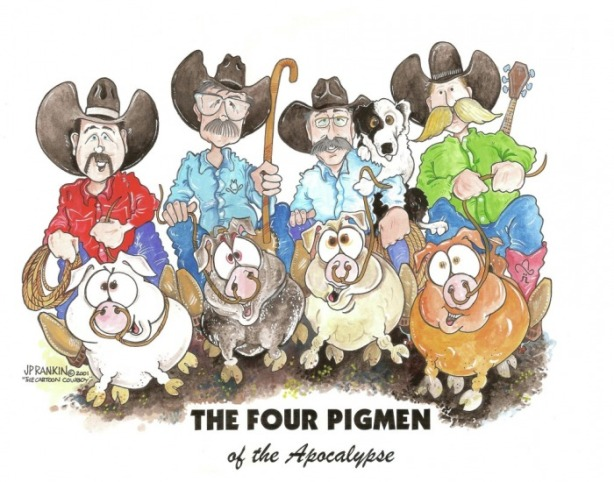 in 2001 ... The Four Pigmen and Same Crap, Different Day