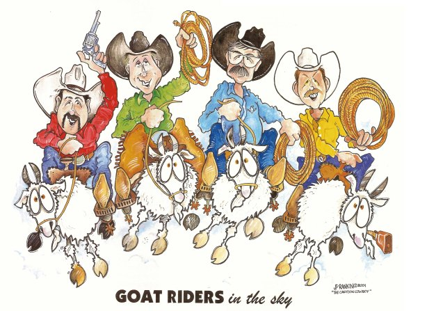 GOAT RIDERS in the Sky