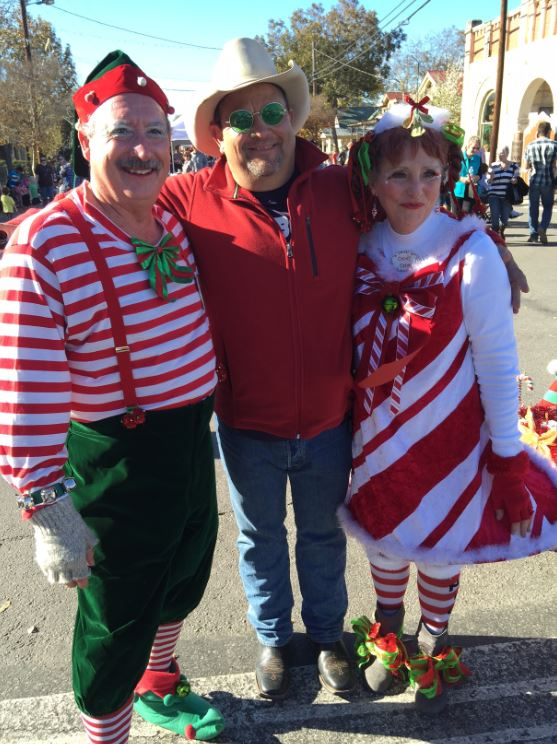 The Cartoon Cowboy and XMAS Elves
