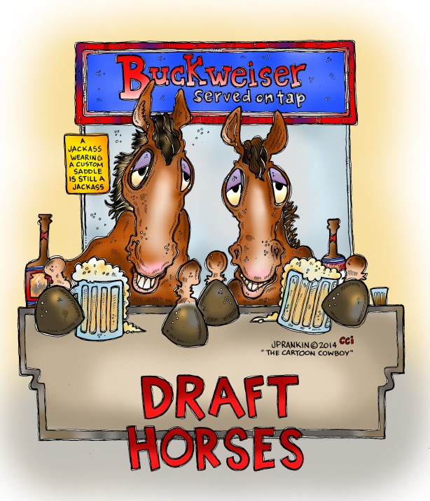 Draft Horses COLOR Background