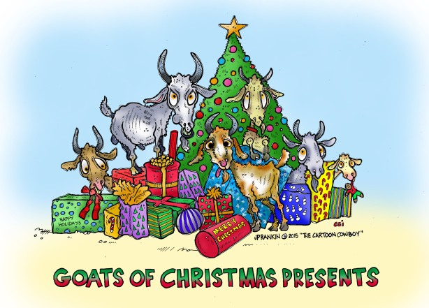 Goats Of Christmas Presents COLOR