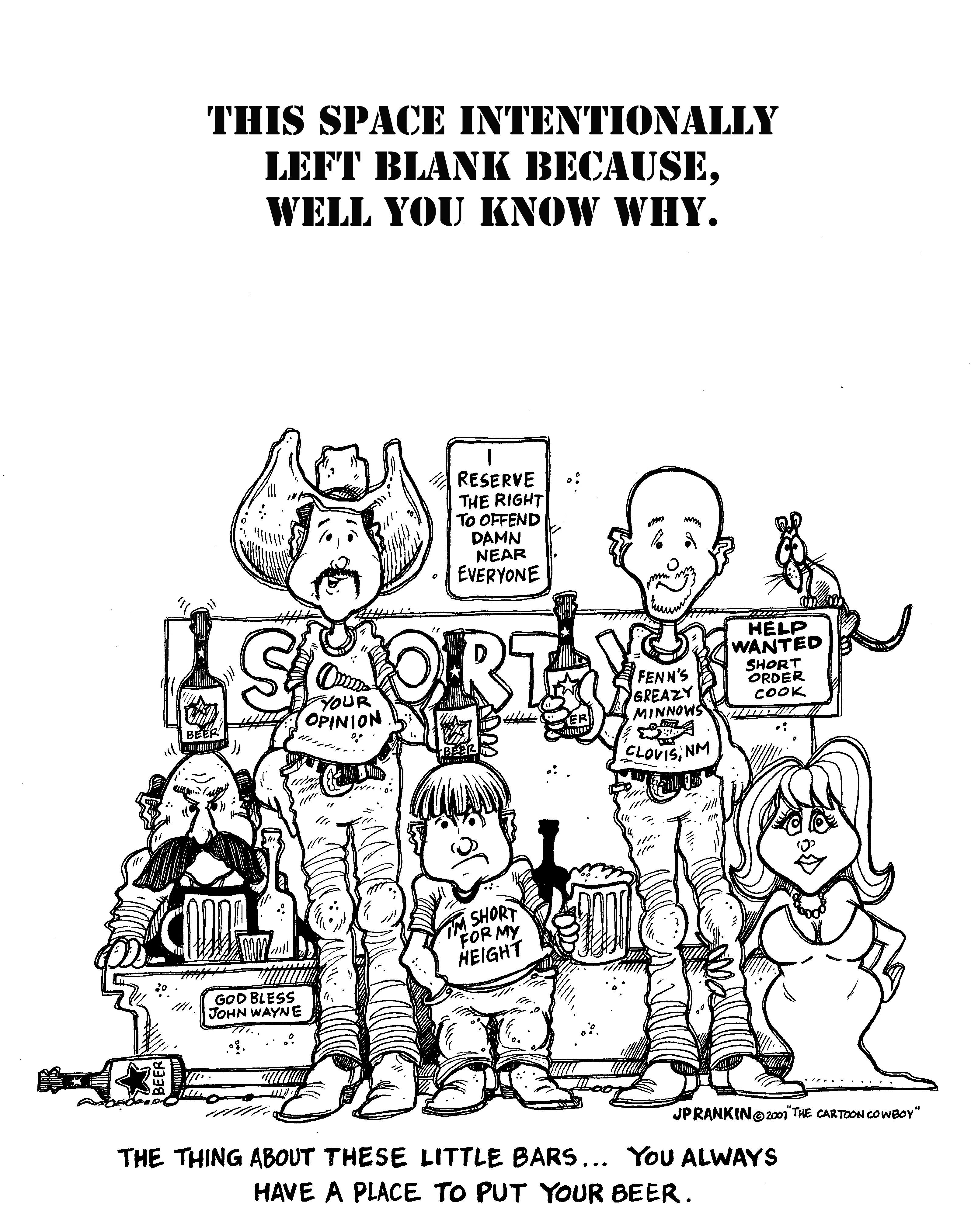 Little People Left Blank BW